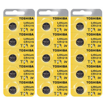 Toshiba CR1216 3 Volt Lithium Coin Battery 15 Cells