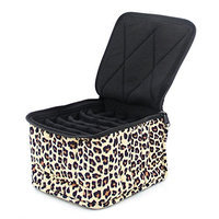 Therapure Health Essentials Essential Oil Carrying Case, 5 High, 30ml, 30-Bottle, Pattern, Leopard
