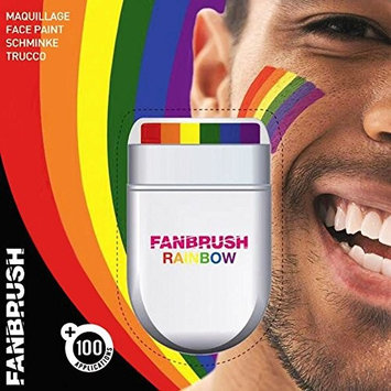 Rainbow Fan Brush Face & Body Paint Gay Lesbian Pride Flag Makeup Pocket Size Easy Wash Off Marches Events Festival Facepaint Fancy Dress Accessory [1, Original Packaging]