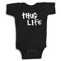 Lil Shirts Thug Life Baby Bodysuit~3-6 Months / Blue