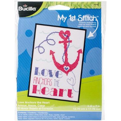 Bucilla My 1st Stitch Love Anchors Mini Counted Cross Stitch Kit-5
