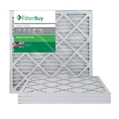 AFB Silver MERV 8 21x22x1 Pleated AC Furnace Air Filter. Filters. 100% produced in the USA. (Pack of 4)