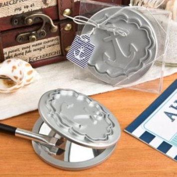 Round Compact Mirror With Anchor Design pack of 75