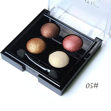 Hot Sale! Exteren 4 Color Pearl Glitter Eye Shadow Powder Palette Eyeshadow Cosmetic Makeup Eyeshadow Palette Eye Makeup