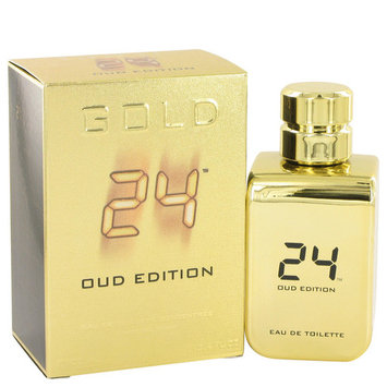 24 Gold Oud Edition by ScentStory Eau De Toilette Concentree Spray (Unisex) 3.4 oz-100 ml-Men