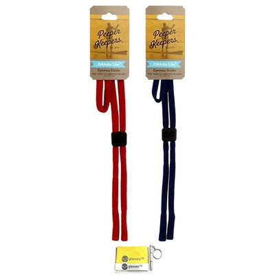 Peeper Keepers Attitube Lite, Red and Navy, 2 pack mix, w/Cloth & Screwdriver