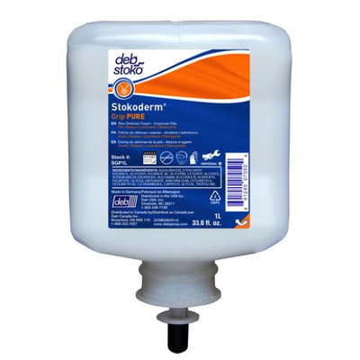 Debus Inc Deb Group 1 Liter Refill Stokoderm® Grip PURE Skin Protection Cream (6 Per Case)