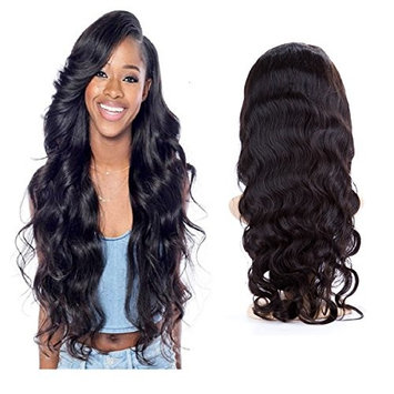 H&N Hair Brazilian Virgin Hair Lace Front Wigs Body Wave Human Hair Wigs For Black Women 130% Density with Baby Hair Natural Color 12inch