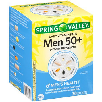 Wal-mart Stores, Inc. Spring Valleyâ ¢ Men 50+ Daily Vitamin Pack Dietary Supplement 30 ct Box