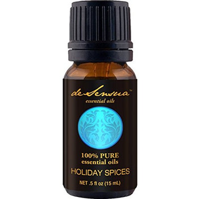 Holiday Spices Essential Oils Blend by deSensua (15 ml) – Pure – Add to Aromatherapy Diffuser or Potpourri – Ideal Fall, Winter Therapeutic Stress Reliever – Cinnamon, Nutmeg, Orange