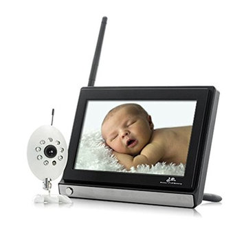 ZTOP Wireless Widescreen LCD 7 Inch 2.4GHz Baby Monitor With Night Vision Camera