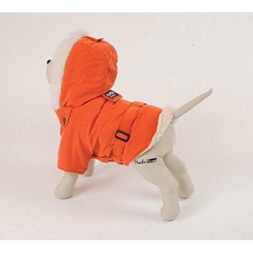 Pet Ego Dogrich Italian Orange Winter Coat Size 24