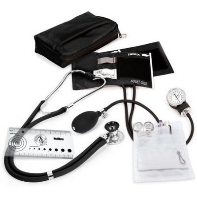 Prestige Medical Aneroid Sphygmomanometer with Sprague Rappaport Nurse Kit Color: Black