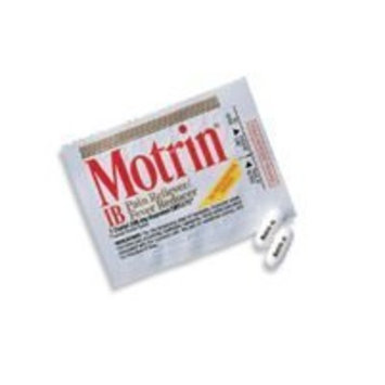 Motrin IB Pain Reliever/Fever Reducer - 2 Tablets Per Package, 50 Packages Per Box - 48152