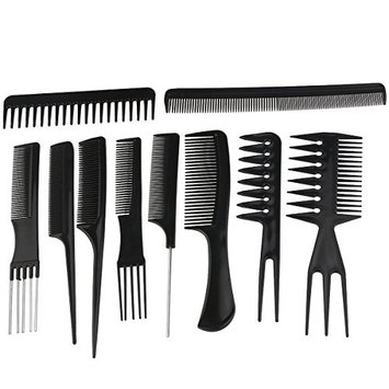 ROSENICE Professional Hair Styling Combs Hairdresser Accessories Tools Set 10pcs