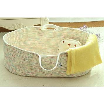 ICEBLUE Spacious Soft Moses Basket Cradle Bedding Set Nursery Storage Basket Toy Basket Baby Shower gift set (gender-neutral)