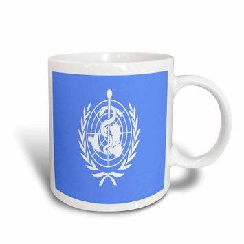 3dRose World Health Organization Flag, Ceramic Mug, 11-ounce