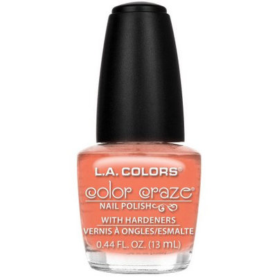 Beauty 21 Cosmetics, Inc. L.A. Colors Color Craze Nail Polish with Hardeners, Nectar, 0.44 fl oz