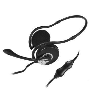 Voiceao 811MU Behind the Head Stereo Headphone Headset w/ Boom Mic - Black