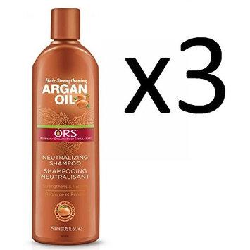 [ LIMITED PACK OF 3] ORS ARGAN OIL STRENGTHENING NEUTRALIZING SHAMPOO 8.45oz : Beauty