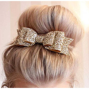 Unicra Womens Satin Big Bow Hair Clip Barrette Accessory