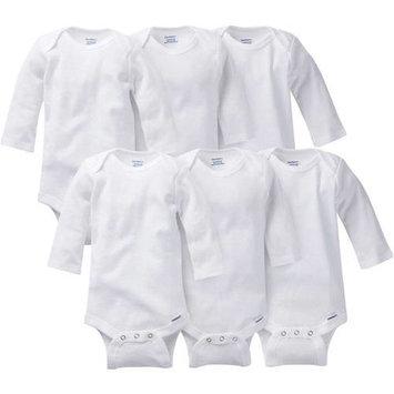 Gerber Newborn Baby Unisex Onesies Brand Long Sleeve Bodysuit, 6-Pack