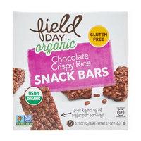 Field Day Organic Chocolate Crispy Rice Snack Bars, 3.9 Oz