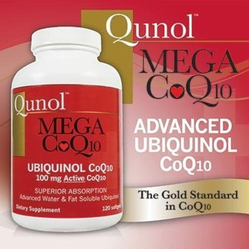 Qunol Mega Ubiquinol CoQ10 100mg, Superior Absorption, Patented Water and Fat Soluble Natural Supplement Form of Coenzyme Q10, Antioxidant for Heart Health, 120 Count Softgels [120 Count]