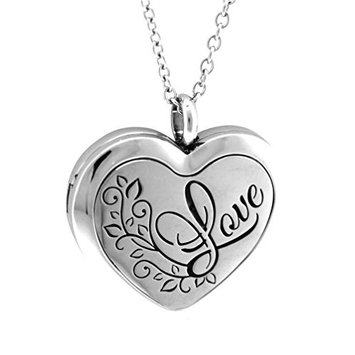 AromaRain Love Heart Shaped Diffuser Necklace - 316L Oil Diffuser Necklace