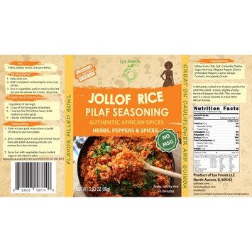 Iya Foods Llc Jollof Rice Pilaf (NO MSG) Seasoning â 2.82 oz