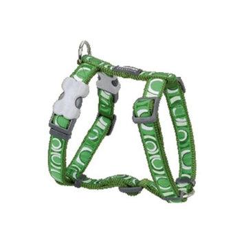 Red Dingo DH-CI-GR-ME Dog Harness Design Circadelic Green Medium