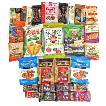 Non GMO Healthy Snack Pack Kit Bundle Variety Assortment Kind Bars Larabar Care Gift Box - Students, College, Military, Office, Or Just Happy Day! (30 Count)