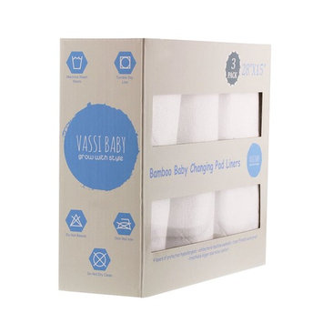 Premium Baby Changing Pad Liners 3-Pack,Soft and Smooth Bamboo Terry Cloth Surface, Hypoallergenic and Antibacterial 100% Waterproof Non Toxic TPU Barrier and Vinyl Free, XL Size 28