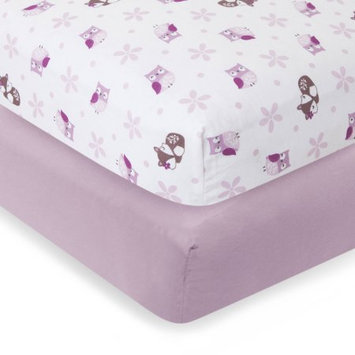 Lambs & Ivy Bedtime Originals Lavender Woods Crib Sheets, 2pk