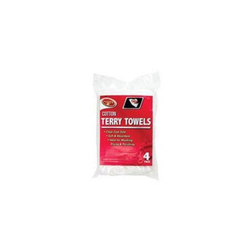 Detailin Gear/Clean Rite/Tiger Accessories 3527 14 x 17 Cotton Terry Towels - 4 Pack White