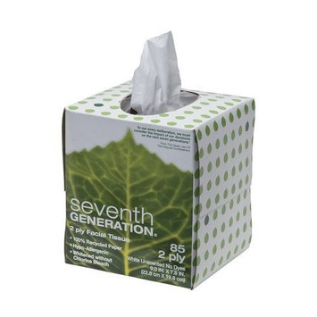 Seventh Generation Facial Tissues Cube, 2 Ply-85ct (Pack of 9)