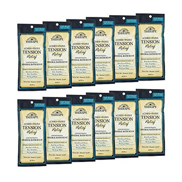Village Naturals Therapy, Mineral Bath Soak, Aches & Pains Tension Relief, 2 Oz, Pack of 12
