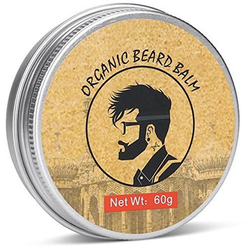 100% Organic Beard Balm Moustache Grooming -All-Natural Beard Leave-In Conditioner- Organic and Natural Essential Oils- Hydrates and Moisturizes Beard and Skin- Prevents Itchy Skin and Dandruff