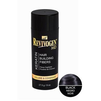 RevivogenMD Keratin Hair Building Fibers, Black, Unscented, 0.9 oz.