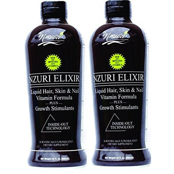 Nzuri Elixir - Liquid Hair Vitamin Plus Growth Stimulants - 64 Ounces