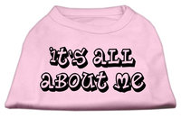 Mirage Pet Products 5140 LGLPK Its All About Me Screen Print Shirts Light Pink Lg 14