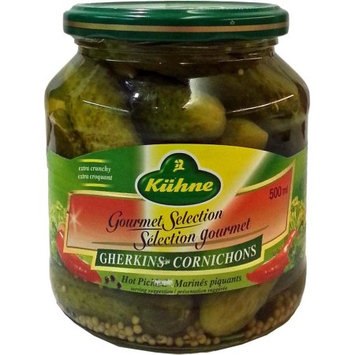Kuhne Hot Gherkins, 19.6 OZ (Pack of 2)
