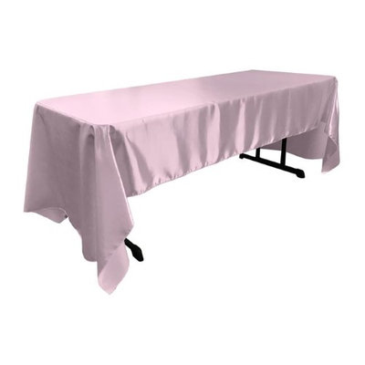 LA Linen TCbridal60X144-LilacB45 Bridal Satin Rectangular Tablecloth Lilac - 60 x 144 in.