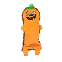 Kyjen Outward Hound 2561 Bottle Buddies Pumpkin Dog Toys Plush Squeak Chew Toy, Large, Orange