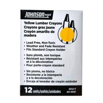 Johnson Level Model 3512-Y Yellow Lumber Crayon 12/Box
