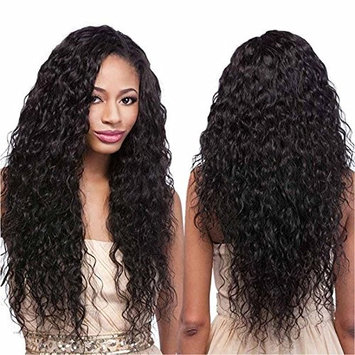 Echo Beauty Top 8A Peruvian Virgin Human Hair Lace Front Wigs for Black Women Curly Wave Handmade Human Hair Wigs Natural Color Medium Cap 20''
