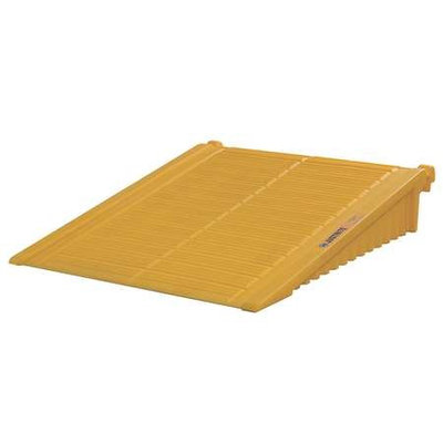 Justrite Drum Storage Unit Ramp (Yellow). Model: 28678