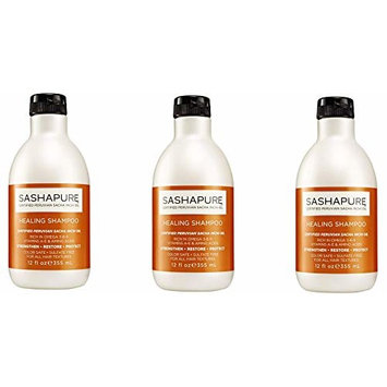 ARRIVAL PACK OF 3] SASHAPURE HEALING SHAMPOO 12 OZ Strengthens, restores : Beauty