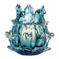 Okt 6 inch H Aqua Decorative Votive Candle Holder Hand Blown Glass Home Collection