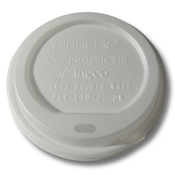Planet + 100% Compostable PLA Hot Cup Lid, Fits 20 oz Double Wall Hot Cups, 600-Count Case [20-ounce Double Wall]